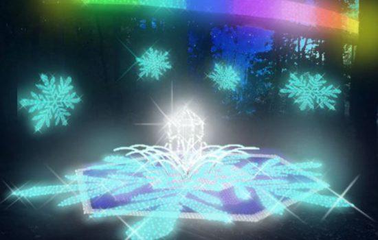 音楽と光の饗宴!空中回廊から見下ろす「雪の華」写真